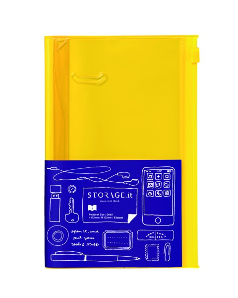 Notizbuch S STORAGE IT Solid Yellow von MARK'S TOKYO EDGE