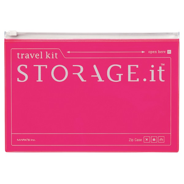 Reisemappe STORAGE IT Neon Pink