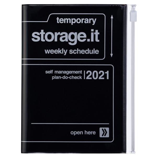 A6 Kalender 2021 STORAGE.IT Schwarz von MARKS TOKYO EDGE