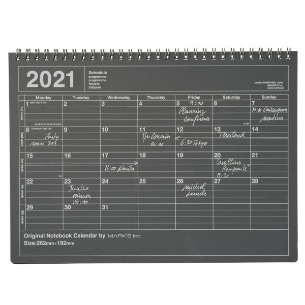 Notizbuch Kalender 2021 M, Schwarz von MARK?S TOKYO EDGE2