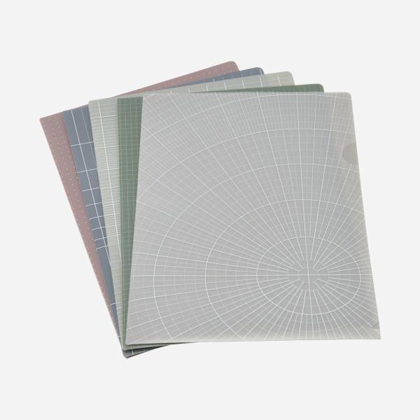Dokumentenmappe 5er Set von Monograph