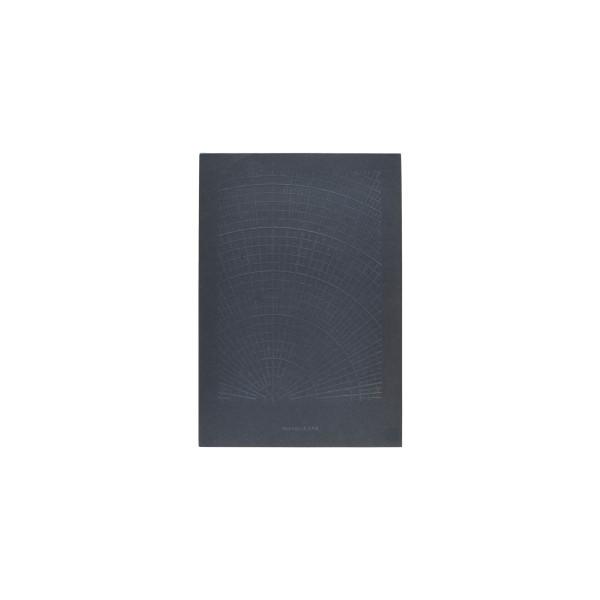 Notizblock Polar Dark Blue Blanko von Monograph