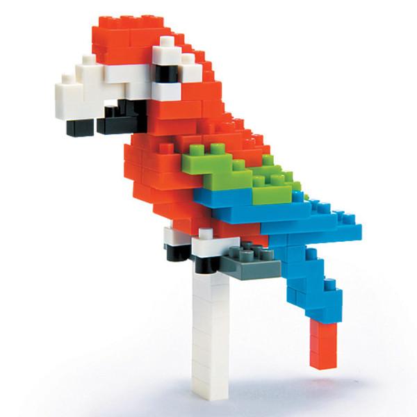 Mini Bausteine Nanoblock Rot Grüner Papagei von Nanoblock