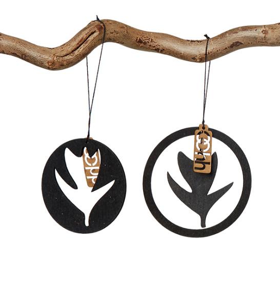 6er Set Anhänger Oster Ornamente Schwarz von oohh