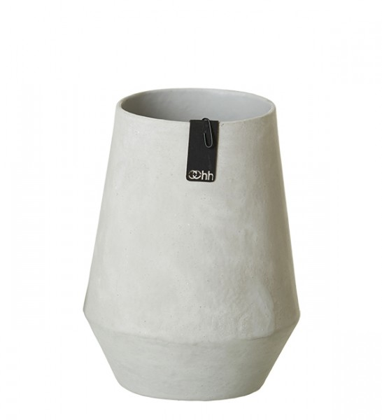Vase Tokyo aus recyceltem Papier  Grau
