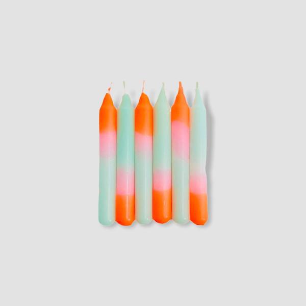 Pink Stories Kleine Kerzen Dip Dye Konfetti Sorbet Babies