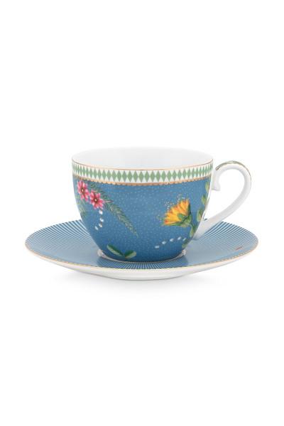 PIP Studio Tasse mit Untertasse La Majorelle Blue