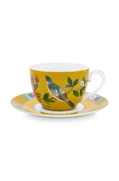 Tasse mit Untertasse Blushing Birds Gelb von PIP Studio