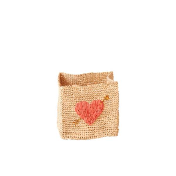 Aufbewahrungskörb Heart M von Rice