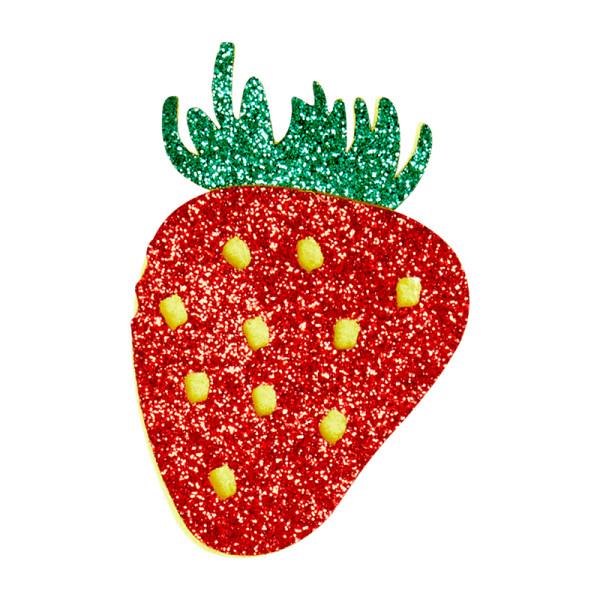 Glitzer Brosche Strawberry von Rice