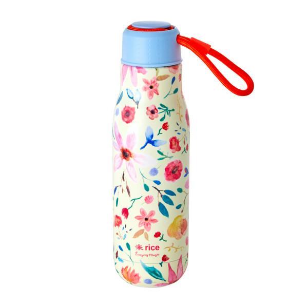 Edelstahl Trinkflasche Selmas Flower von Rice