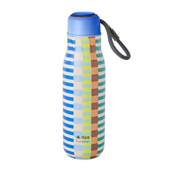 Edelstahl Trinkflasche Summer Stripes von Rice