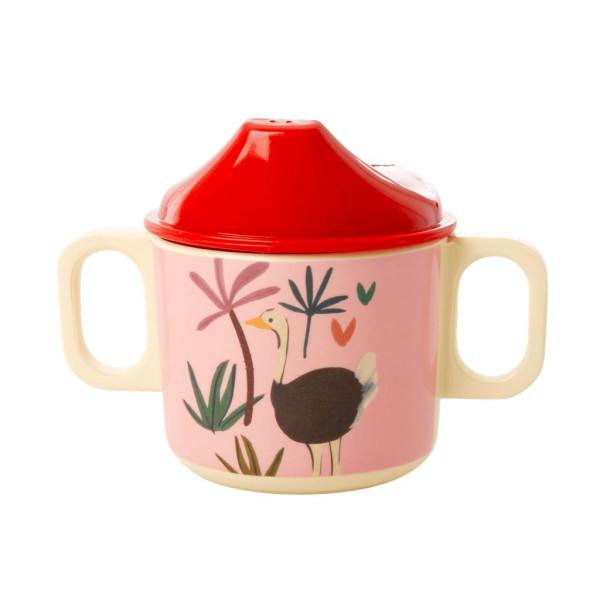 Melamin Schnabelbecher Pink Jungle Animals von Rice