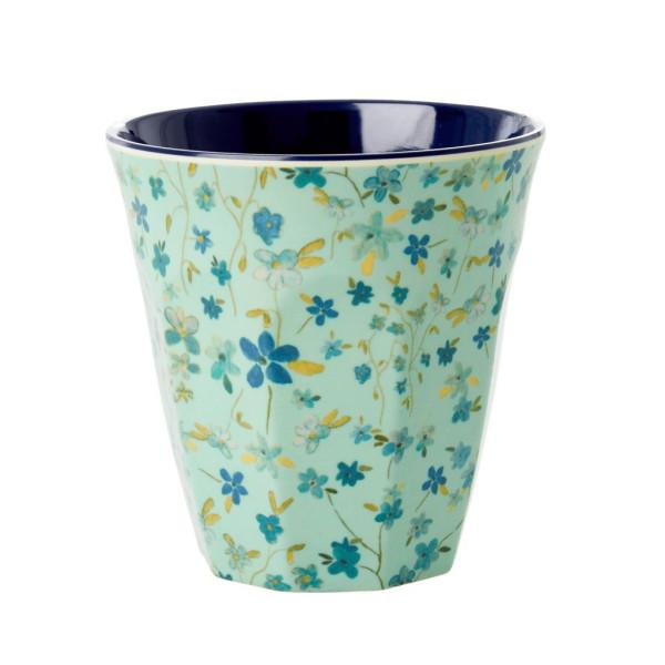 Melamin Becher Blue Floral von Rice