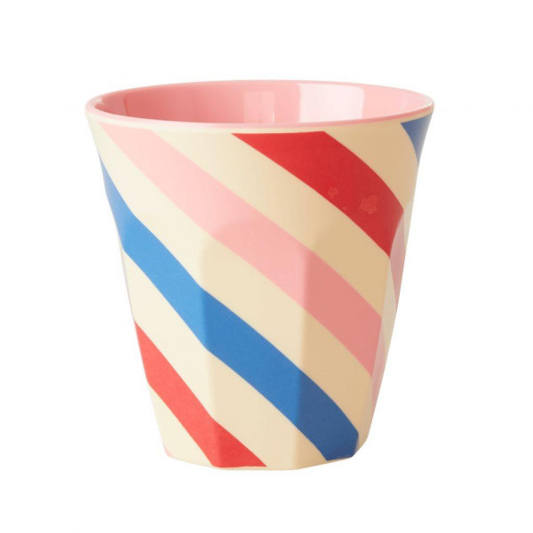 Melamin Becher Candy Stripes von Rice