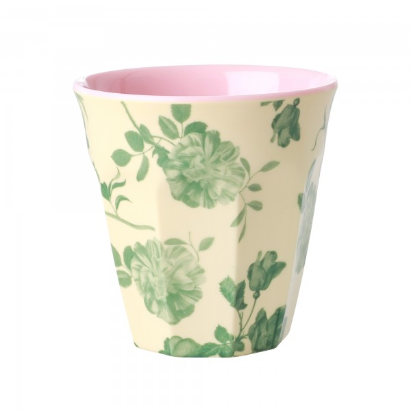 Melamin Becher Green Rose von Rice