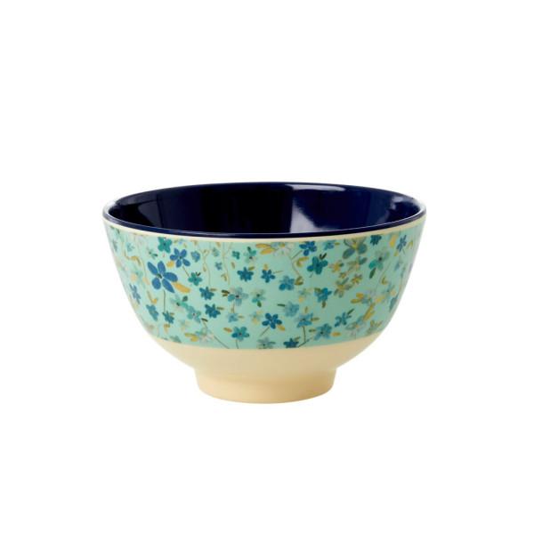Kleine Melamin Müslischale Blue Floral von Rice
