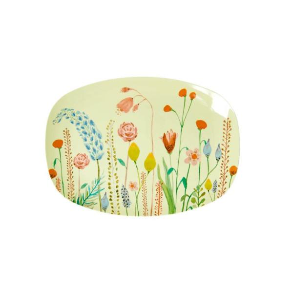 Kleiner Melamin Servierteller Summer Flowers von Rice
