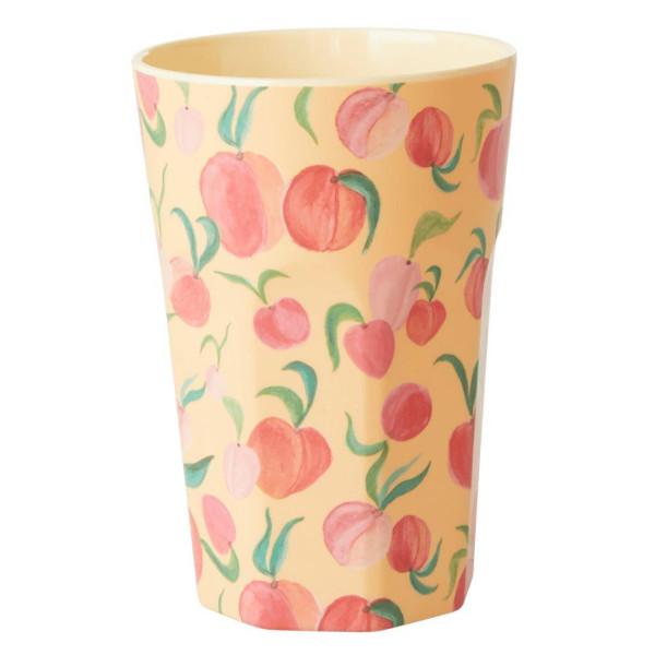 Melamin Latte Cup Apricot Peach von Rice