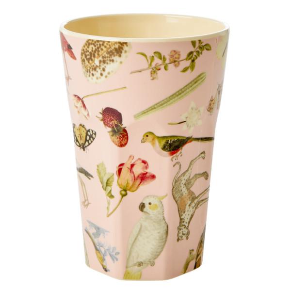 Melamin Latte Cup Art-Print Pink von Rice