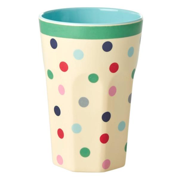 Melamin Latte Cup Iris Believe in Lipsticks Dots von Rice