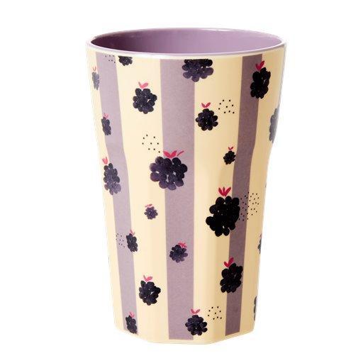 Rice Melamin Latte Cup Blackberry Beauty