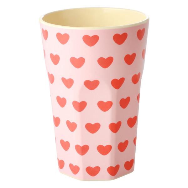 Melamin Latte Cup Sweet Hearts von Rice