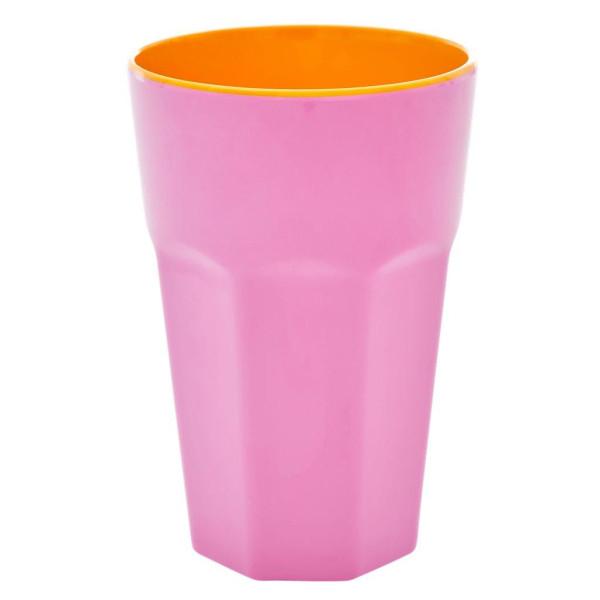 Melamine Latte Cup Two Tone Pink und Orange von Rice