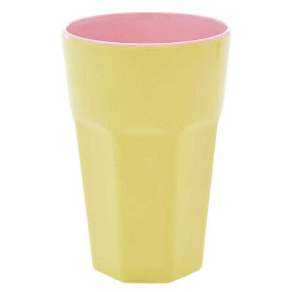 Melamine Latte Cup Two Tone Soft Yellow und Pink von Rice