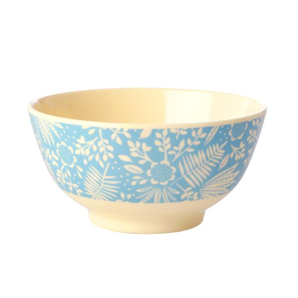 Melamin Müslischale Blue Fern and Flower von Rice