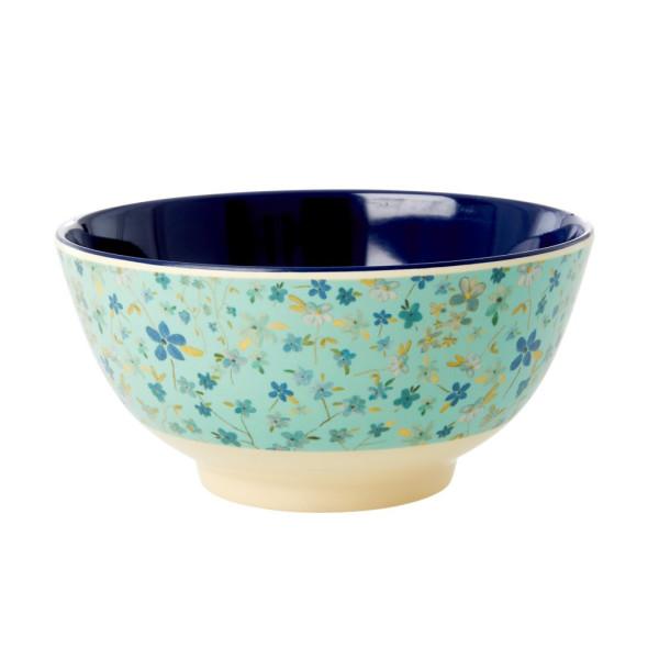 Melamin Schale Blue Floral von Rice