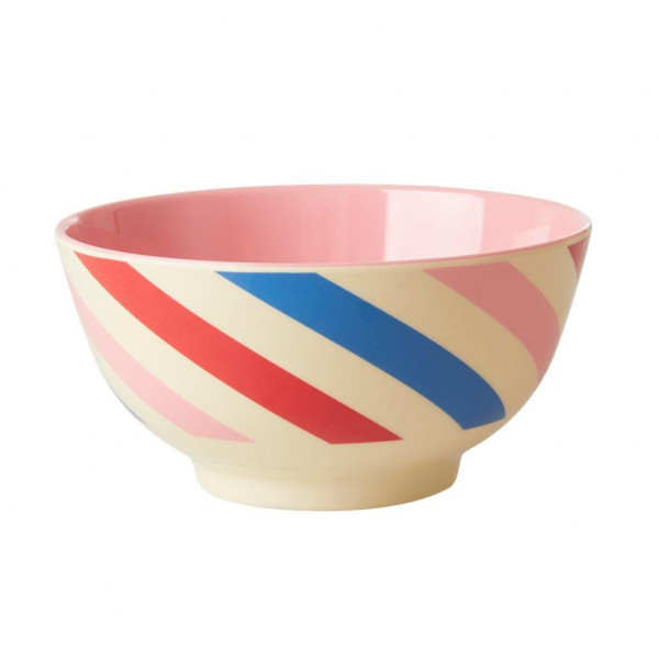 Melamin Schale Candy Stripes von Rice