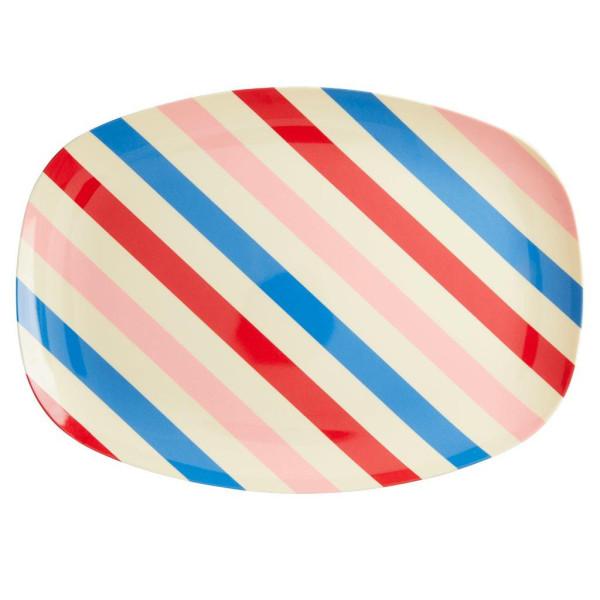Melamin Servierteller Candy Stripes von Rice