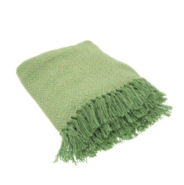 Decke Herringbone Grün von Sass & Belle