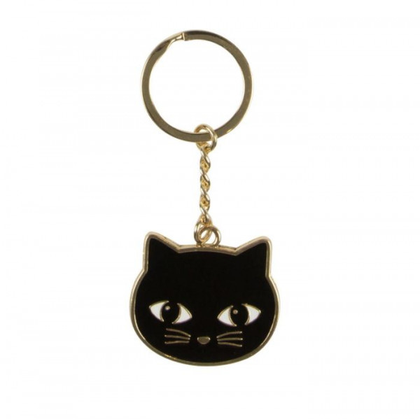 Sass & Belle Schlüsselanhänger Black Cat Emaille