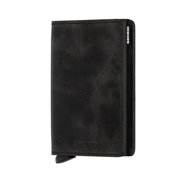 Börse Slimwallet Vintage Black von Secrid