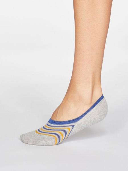 Sneaker Socken Kris Stripe Grey Marle von Thought