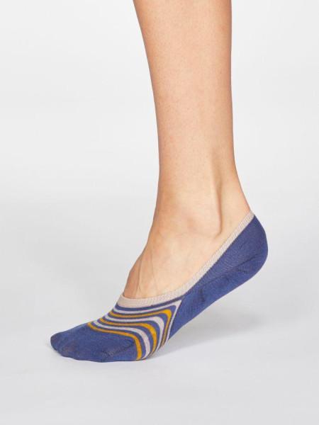 Thought Sneaker Socken Kris Stripe Mineral Blue