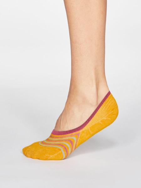Sneaker Socken Kris Stripe Sunflower Yellow von Thought