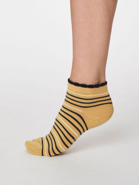 Sneaker Socken Lorraine Stripey Buttercup Yellow von Thought