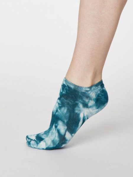 Sneaker Socken Tie Dye Lagoon Blue von Thought