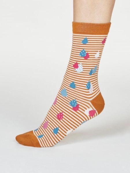 Thought Socken Juliette Raindrop Amber Yellow