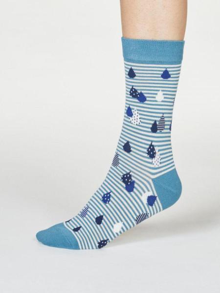 Thought Socken Juliette Raindrop River Blue