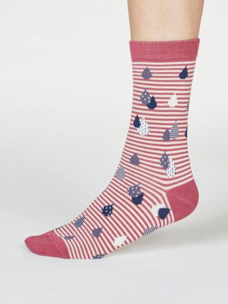 Thought Socken Juliette Raindrop Rose Pink