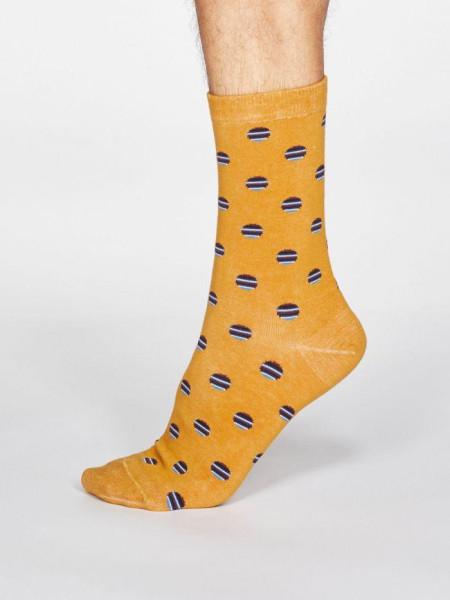Thought Socken Grayson Spot & Stripe Mustard Yellow