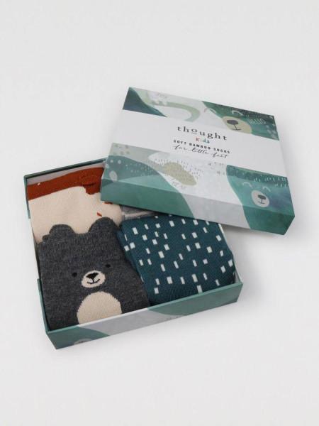 Thought Kinder Socken Box Orpha Animal 4-6J