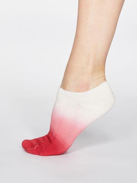 Thought Sneaker Socken Mercy Blend Dip Dye Coral Red