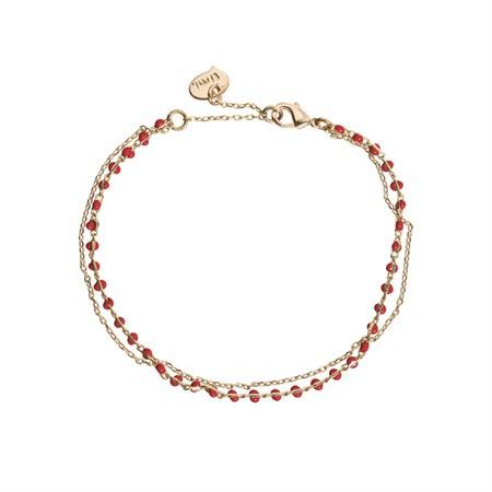 Doppeltes Armband Perlen Rot von Timi