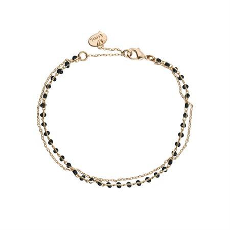 Doppeltes Armband Perlen Schwarz von Timi