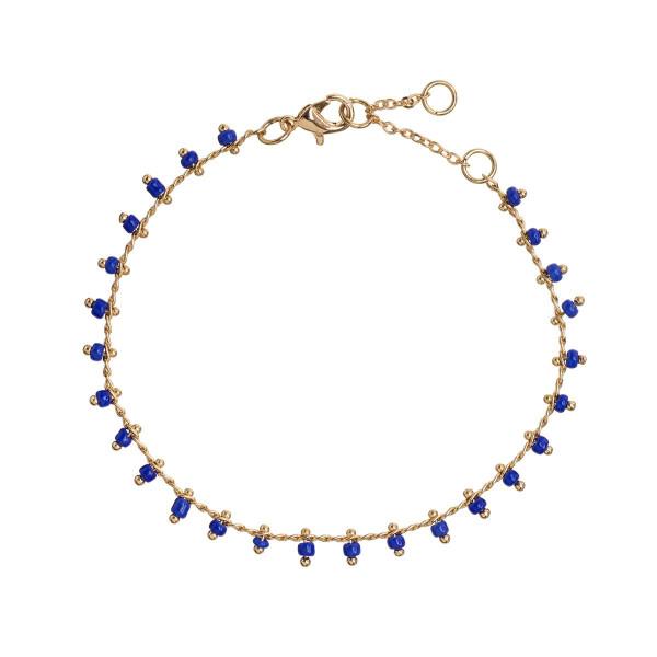 Timi Armband Blue Bead Gold